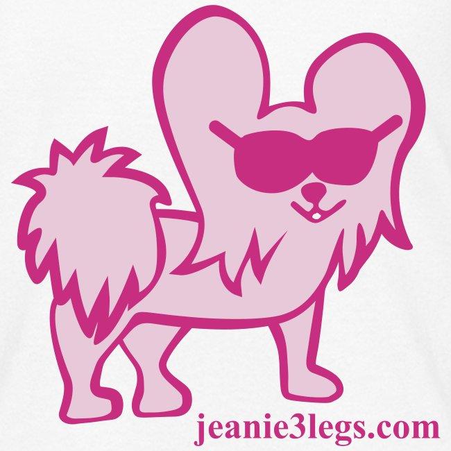 Kids Jeanie the 3-Legged Dog (pink graphic)