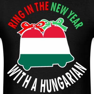 Ring In The New Year With A Hungarian - Men's T-Shirt