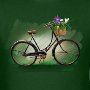 Bicycle with flowers T-shirts - T-shirt pour hommes