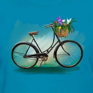 Bicycle with flowers Women's T-Shirts - Women's T-Shirt