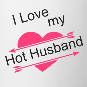 I Love my Hot Husband - Contrast Coffee Mug