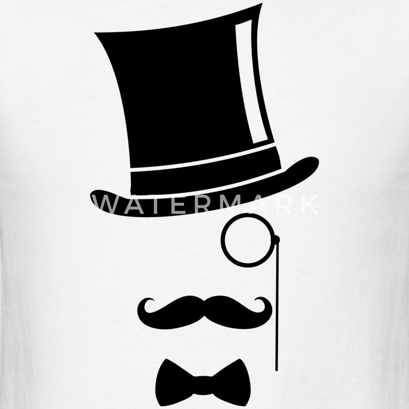 Top Hat and monocle - Men's T-Shirt
