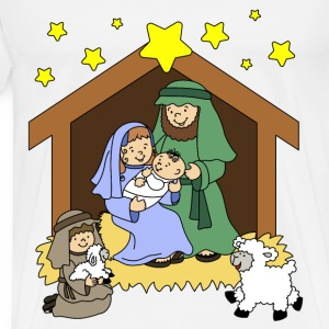 Nativity Scene Cartoon - Men's Premium T-Shirt