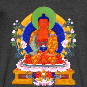 Buddha Amitabha T-Shirts - Men's V-Neck T-Shirt by Canvas