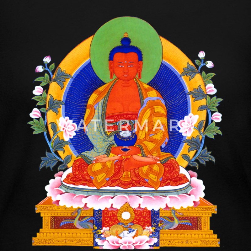 Buddha Amitabha Long Sleeve Shirts - Women's Long Sleeve Jersey T-Shirt