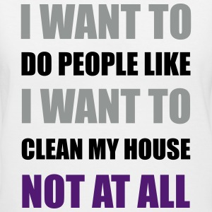 I Want To Do People Not At All Asexual LGBT Funny  Women's T-Shirts - Women's V-Neck T-Shirt