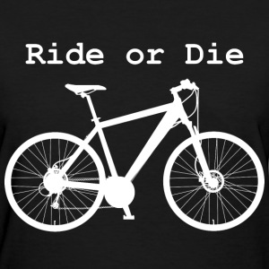 Ride or Die (Women's White Print) - Women's T-Shirt