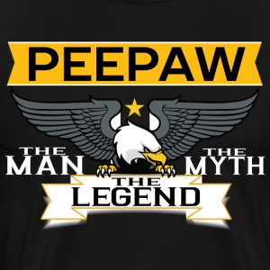 Peepaw The Man The Myth The Legend T-Shirts - Men's Premium T-Shirt
