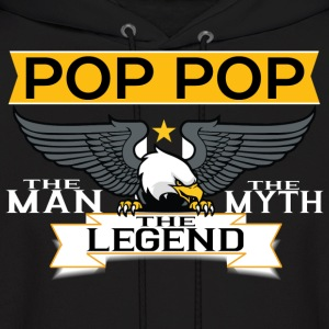 Pop Pop The Man The Myth The Legend Hoodies - Men's Hoodie