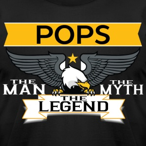 Pops The Man The Myth The Legend T-Shirts - Men's T-Shirt by American Apparel