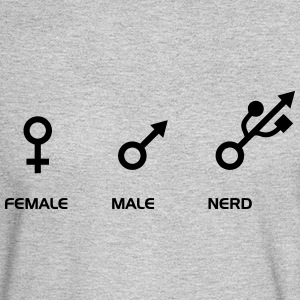FEMALE - MALE - NERD Long Sleeve Shirts - Men's Long Sleeve T-Shirt