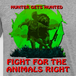Hunter Gets Hunted T-Shirts - Men's Premium T-Shirt