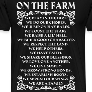 farmer farming farmers poem - Men's Premium T-Shirt