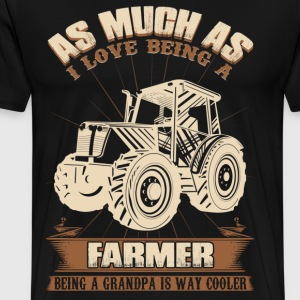 farmer grandpa papa grandfather - Men's Premium T-Shirt