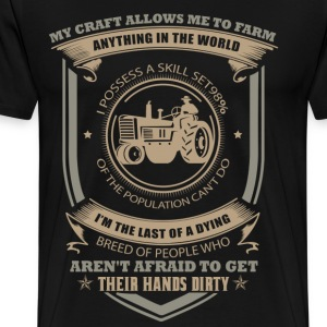 farmer love farm tractor - Men's Premium T-Shirt