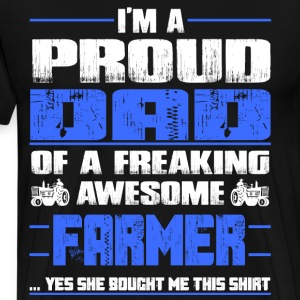 farmer dad, daughter wife farmer son - Men's Premium T-Shirt
