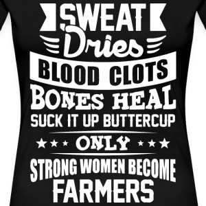 farmer strong women wife loving - Women's Premium T-Shirt