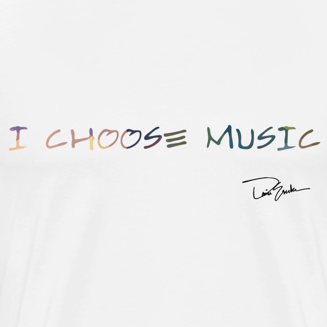 Men's I Choose Music Colorful Tee