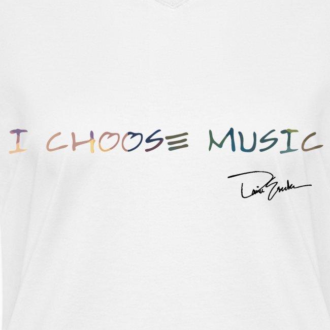Womens I Choose Music Coloful Tee