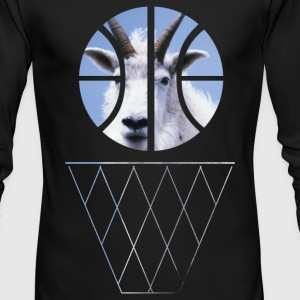 goat basketball Long Sleeve Shirts - Men's Long Sleeve T-Shirt by Next Level