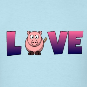 Pig Love T-Shirts - Men's T-Shirt