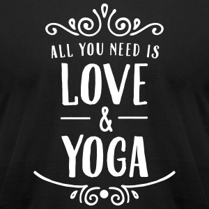 All You Need Is Love & Yoga T-Shirts - Men's T-Shirt by American Apparel