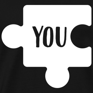 You - Me Puzzle (Part 1/2) T-Shirts - Men's Premium T-Shirt