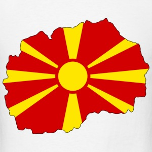 Macedonia flag map T-Shirts - Men's T-Shirt