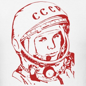T-shirt with Gagarin's portrait. - Men's T-Shirt