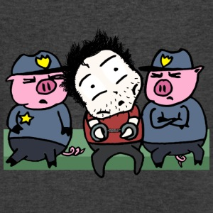 locked up by pigs - Men's V-Neck T-Shirt by Canvas