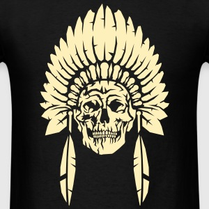 Skull with indian headdress T-Shirts - Men's T-Shirt
