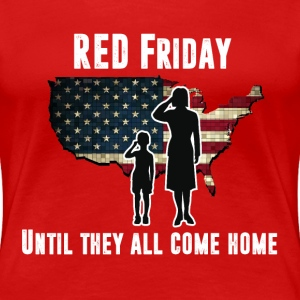 Women's RED Friday Premium T-Shirt (white letters) - Women's Premium T-Shirt