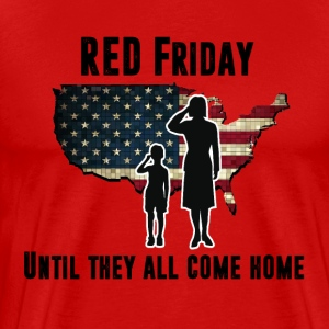 RED Friday (black letters) - Men's Premium T-Shirt