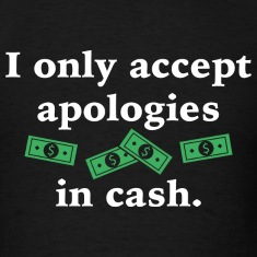 Apologies In Cash