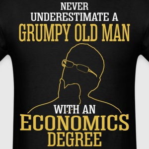 A Grumpy Old Man With An Economics Degree - Men's T-Shirt