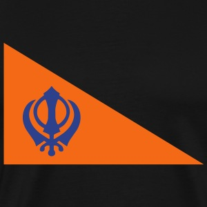 The Nishan Sahib, Sikh Flag. T-Shirts - Men's Premium T-Shirt