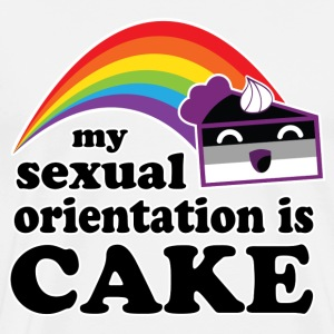 My Sexual Orientation Is Cake Funny LGBT Pride T-Shirts - Men's Premium T-Shirt