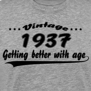 Vintage 1937 Getting Better With Age T-Shirts - Men's Premium T-Shirt