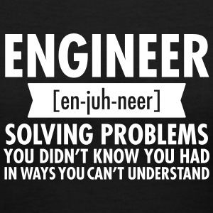 Engineer - Solving Problems Women's T-Shirts - Women's V-Neck T-Shirt