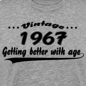 Vintage 1967 Getting Better With Age T-Shirts - Men's Premium T-Shirt