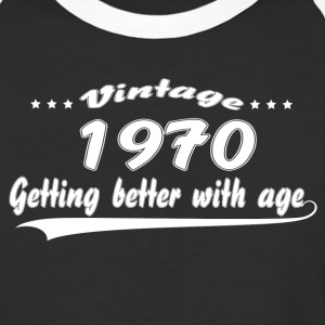 Vintage 1970 Getting Better With Age T-Shirts - Baseball T-Shirt