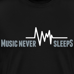 Music never sleeps T-Shirts - Men's Premium T-Shirt