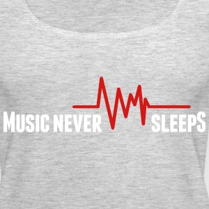 Music never sleeps Tanks - Women's Premium Tank Top