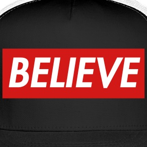 Believe in Christ Christian T shirt Sportswear - Trucker Cap