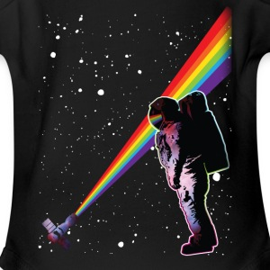 Astronaut Rainbow Space Baby Bodysuits - Short Sleeve Baby Bodysuit