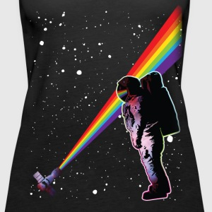 Astronaut Rainbow Space Tanks - Women's Premium Tank Top