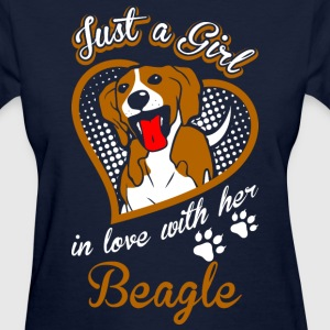 Just A Girl In Love With Her Beagle Dog - Women's T-Shirt