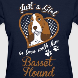 Just A Girl In Love With Her Basset Hound Dog - Women's T-Shirt