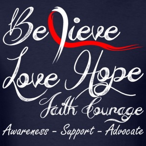 Believe Love Hope Faith Courage Cancer Awareness - Men's T-Shirt