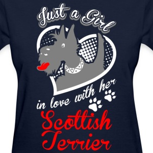Just A Girl In Love With Her Scottish Terrier Dog - Women's T-Shirt